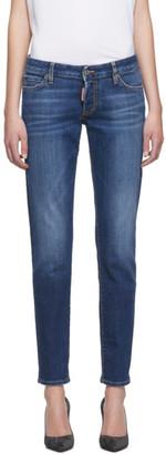 DSQUARED2 Blue Plain Wash Jennifer Jeans