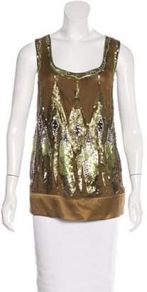 Philosophy di Alberta Ferretti Embellished Silk Top