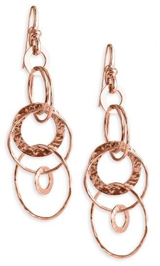 Ippolita 'Jet Set' Rosé Hammered Earrings