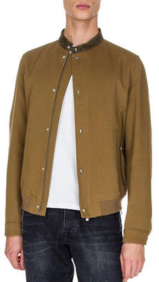 The Kooples Wool-Blend Bomber Jacket