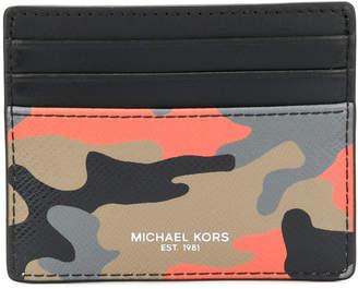 Michael Kors Harrison camouflage-print card case