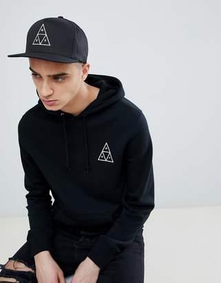 HUF Triple Triangle Snapback Cap In Black