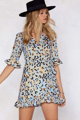 Nasty Gal Leave Hem Leopard Dress