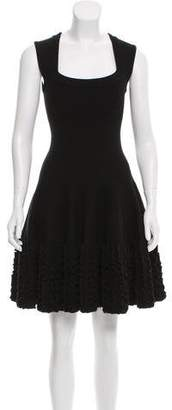 Alaia Wool Fit & Flare Dress
