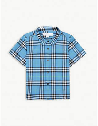 Burberry Check print cotton shirt 6-36 months