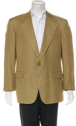 Aquascutum London Bouclé Two-Button Blazer