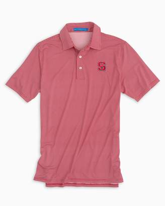 Southern Tide NC State Wolfpack Plaid Polo Shirt