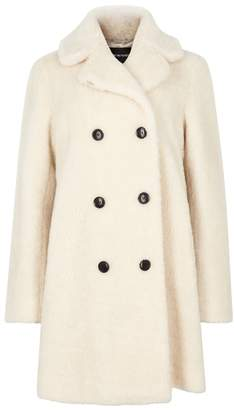 Emporio Armani Porcelain Wool-blend Coat