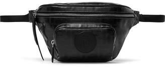 Fendi Leather-Trimmed Logo-Print Coated-Canvas Belt Bag