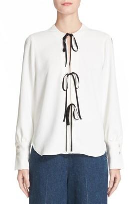 Women's Rachel Comey Meryl Tie Front Blouse $368 thestylecure.com