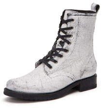Veronica Painted Leather Combat Boots