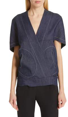 Zero Maria Cornejo Hex Denim Shrug