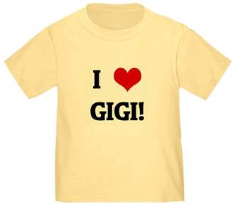 CafePress - I Love GIGI! - Cute Toddler T-Shirt, 100% Cotton