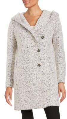 Cole Haan Textured Wool-Blend Walker Coat