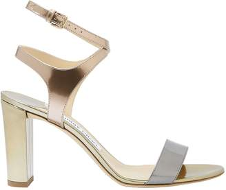 Jimmy Choo Marine Metallic High Sandals