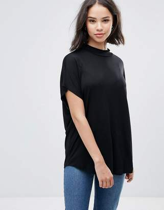 Soaked in Luxury Soaked In Luxury High Neck Drapey T-Shirt