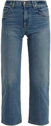 KHAITE Wendall cropped wide-leg jeans