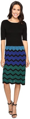Christin Michaels Juleen Chevron Sweater Dress $84 thestylecure.com
