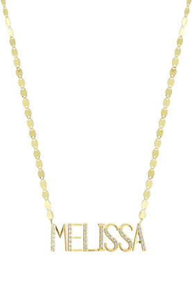 Lana Gold Personalized Seven-Letter Pendant Necklace w/ Diamonds