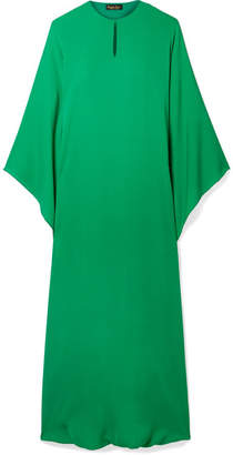 Reem Acra - Draped Silk-georgette Midi Dress - Emerald