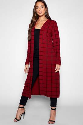 boohoo Tall Checked Duster