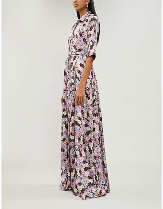 Erdem Karissa floral-print silk-satin gown