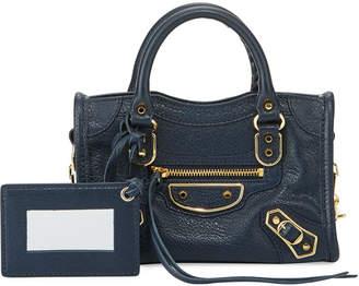 Balenciaga Metallic Edge Nano City AJ Crossbody Bag