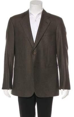 Giorgio Armani Wool Chevron Sport Coat