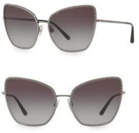 Dolce & Gabbana 61MM Scallop Cat Eye Sunglasses