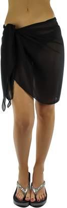 df3df4bccf9ed Luxury Divas Lightweight Semi Sheer Short Sarong Bathing Wrap