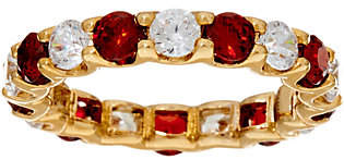 Grace Kelly Collection Simulated Ruby & DiamondEternity Ring