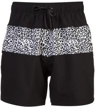Amiri leopard stripe swimming trunks