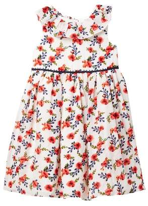 Laura Ashley Floral Sleeveless Dress (Toddler & Little Girls)