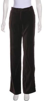 Armani Collezioni Velvet Mid-Rise Pants Velvet Mid-Rise Pants