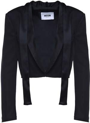 MSGM Tie-neck Satin Crop Jacket