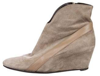 Robert Clergerie Pointed-Toe Suede Ankle Boots