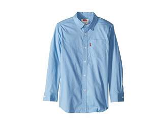 Levi's Kids L/S Cunningham Woven Shirt (Big Kids)