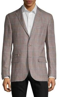 Corneliani Checkered Wool Jacket