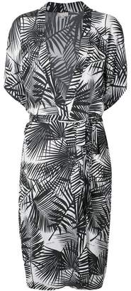 Fleur Du Mal palm print belted robe