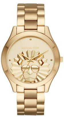 Michael Kors Slim Runway Lion Bracelet Watch, 42mm
