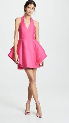 Halston Sleeveless Halter Dramatic Dress
