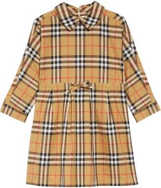 Burberry Mini Crissida Check Print Dress