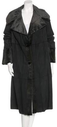 Giuliana Teso Mink Lined Long Coat w/ Tags