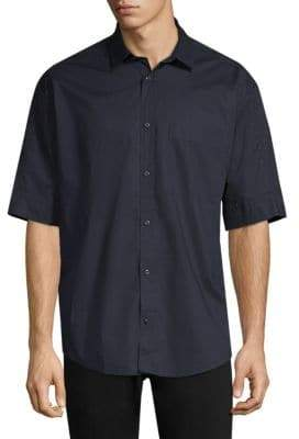 HUGO BOSS Eynoid Cotton Short-Sleeve Button-Down Shirt