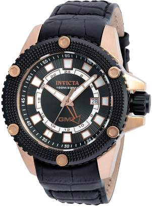 Invicta Men's 'Speedway' Swiss Quartz Stainless Steel and Leather Casual Watch, Color: (Model: 19305)