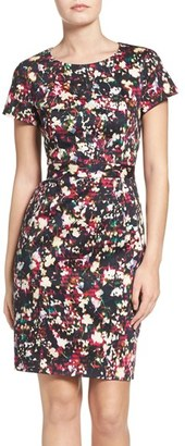 French Connection Midnight Bloom Stretch Cotton Sheath Dress $158 thestylecure.com