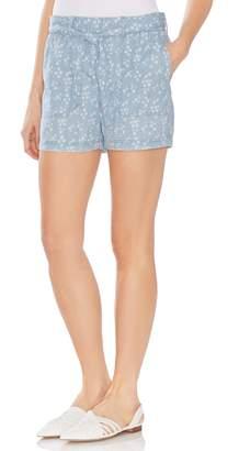 Vince Camuto Tie Waist Floral Print Shorts