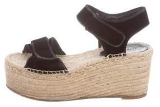 4cb6676f140 Celine Black Espadrille Wedge Women s Sandals - ShopStyle