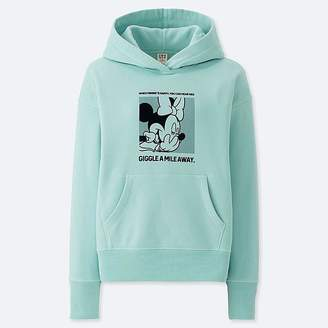 Uniqlo Women's Celebrate Mickey Graphic Hooded Sweatshirt