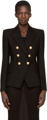 Balmain Black Six-Button Blazer $2,230 thestylecure.com